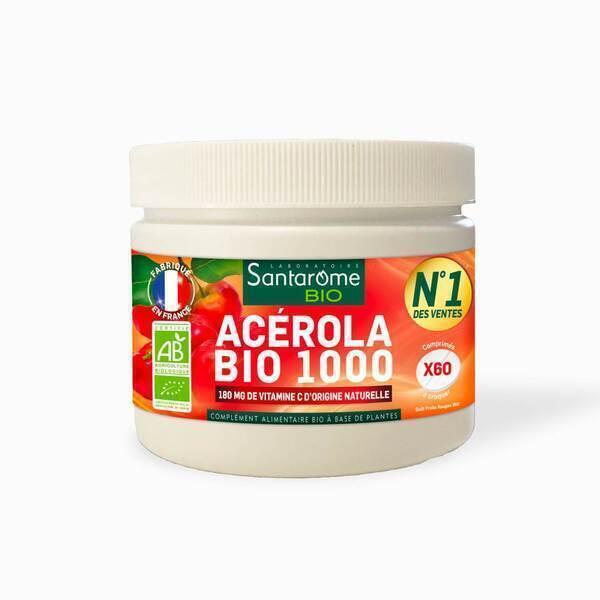 Santarome - Acérola Bio 1000 Pot (60 comprimés)