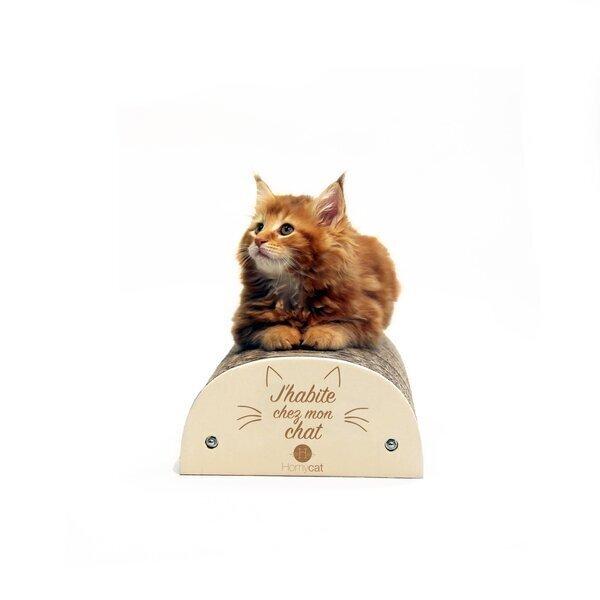 """Homycat - Griffoir rechargeable """"J'habite chez mon chat"""""""