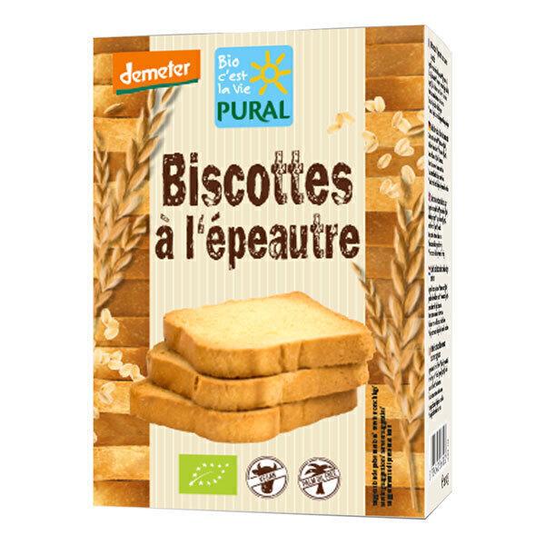 Pural - Biscottes épeautre Demeter 200g