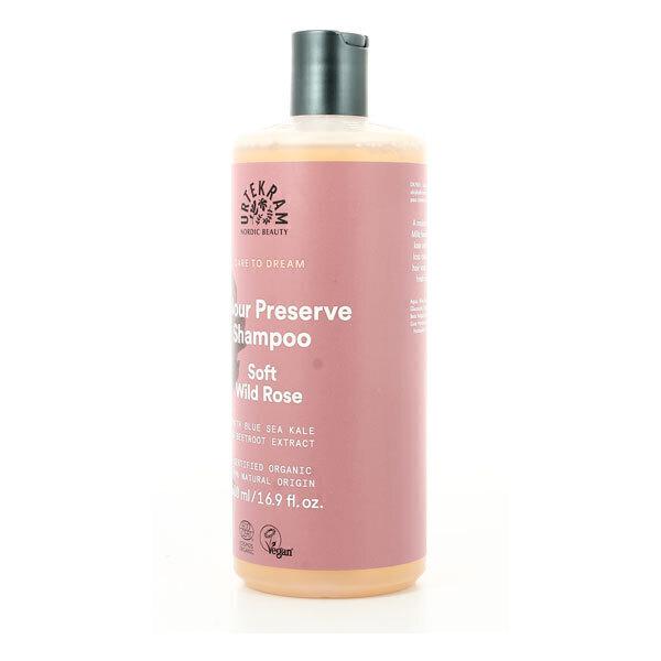 Urtekram - Shampoing cheveux colorés à la rose sauvage 500ml