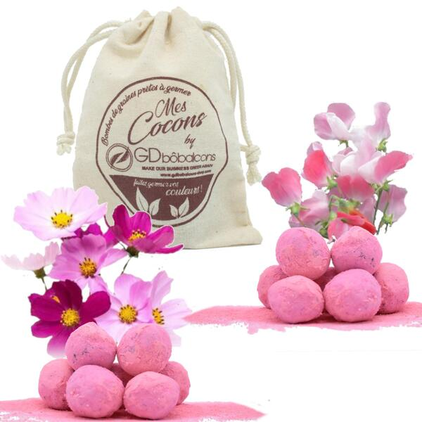 GD Bô Balcons - Pack Pink / 10 Bombes À Graines + Sac