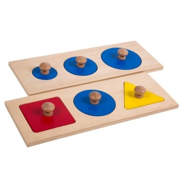 MontessoriSamuserAutrement - Puzzle 3 ronds et 3 formes