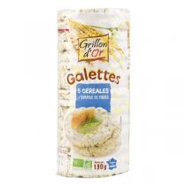Grillon d'or - Organic 5-Grain Rice Cake 130g