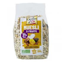 Grillon d'or - Muesli 5 Fruits 500g