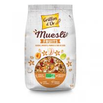 Grillon d'or - Organic Fruit Muesli 1kg