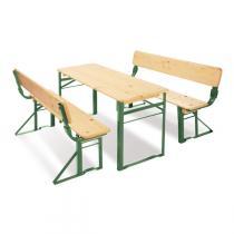 Pinolino - Table + bancs avec dossier Sepp