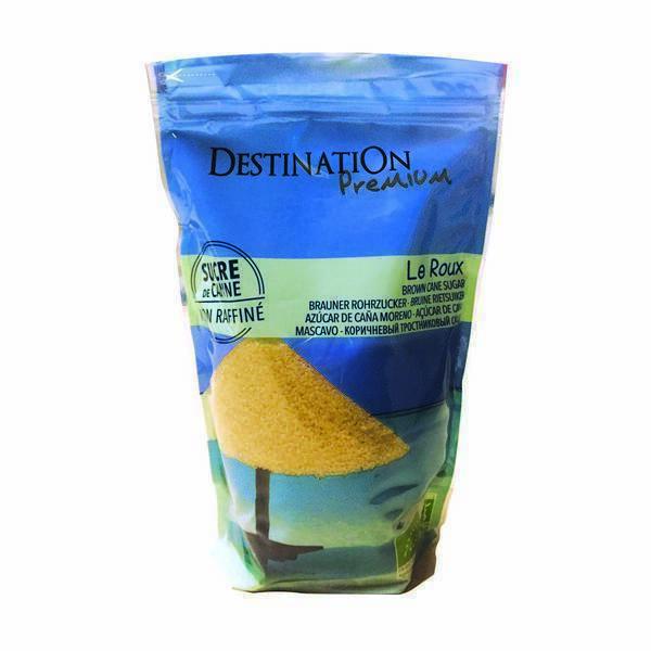 """Destination - Sucre de canne Roux """"gros cristal"""" 1kg"""