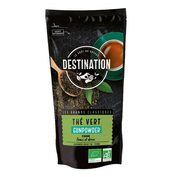 Destination - Thé vert Gunpowder de Chine 100g