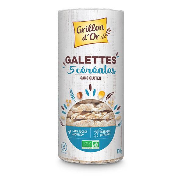 Grillon d'or - Galettes 5 céréales 130g