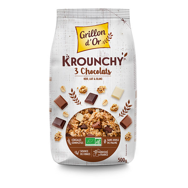 Grillon d'or - Krounchy 3 chocolats 500g