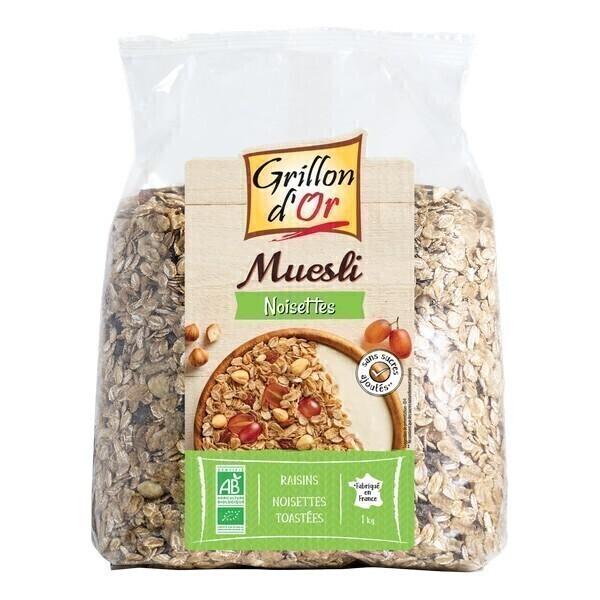 Grillon d'or - Muesli Noisettes 1KG