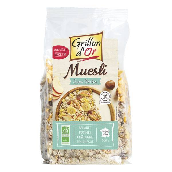Grillon d'or - Muesli sans Gluten 500g
