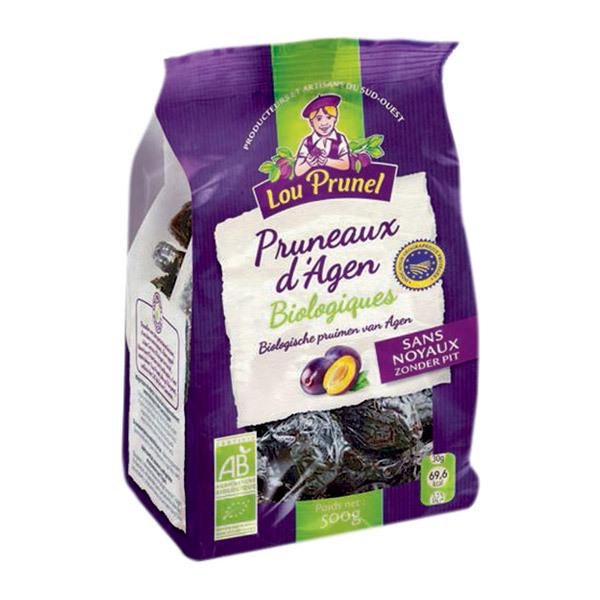 Lou Prunel - Pruneaux Bio dénoyautés 55-66 500g