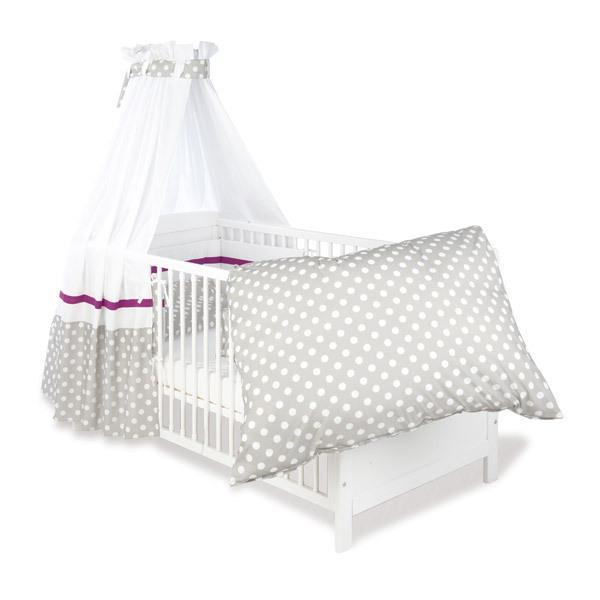parure de lit b b motifs points gris pinolino la r f rence bien tre bio b b. Black Bedroom Furniture Sets. Home Design Ideas