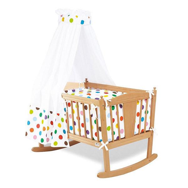 parure pour berceau pois multicolors pinolino la r f rence bien tre bio b b. Black Bedroom Furniture Sets. Home Design Ideas