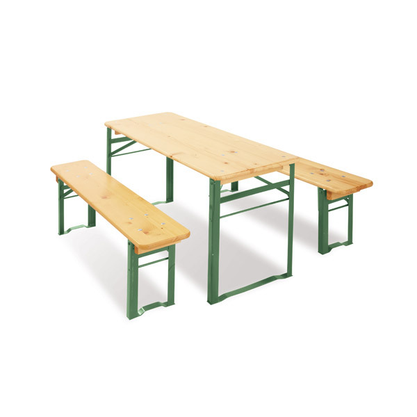 Set de table et chaises pliable en bois sepp pinolino for Banc de table en bois