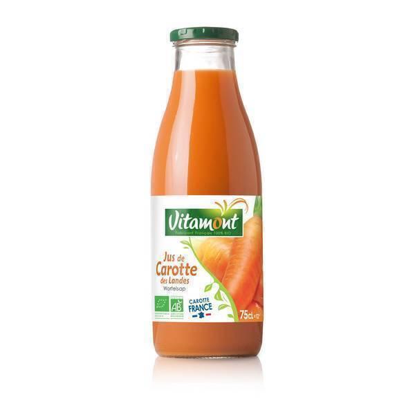 Vitamont - Jus de Carottes de france Bio 75cL