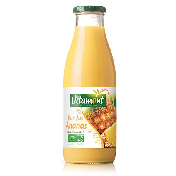 Vitamont - Pur Jus d'Ananas Bio 75cL