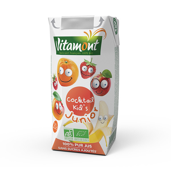 Vitamont - Tétra Cocktail kid's 100% pur jus 20cl