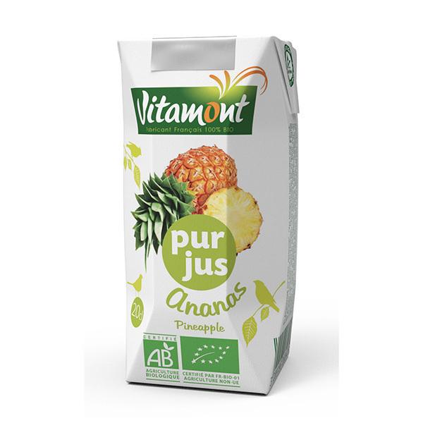 Vitamont - Tetra Pak Pur Jus d'Ananas Bio 20cL