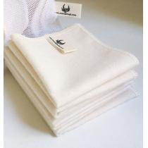 Memamnali - Mouchoirs en flanelle de coton bio lavables (Lot de 5)