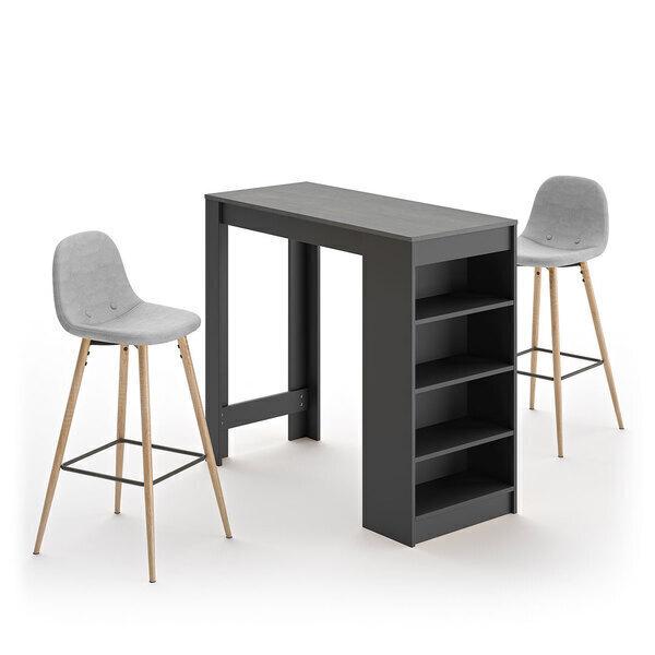 Temahome - A-COCOON table et chaises - Noir et béton - Gris clair