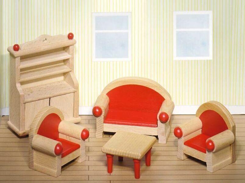 Goki - Meubles pour Maison de poupées en bois Séjour - Goki