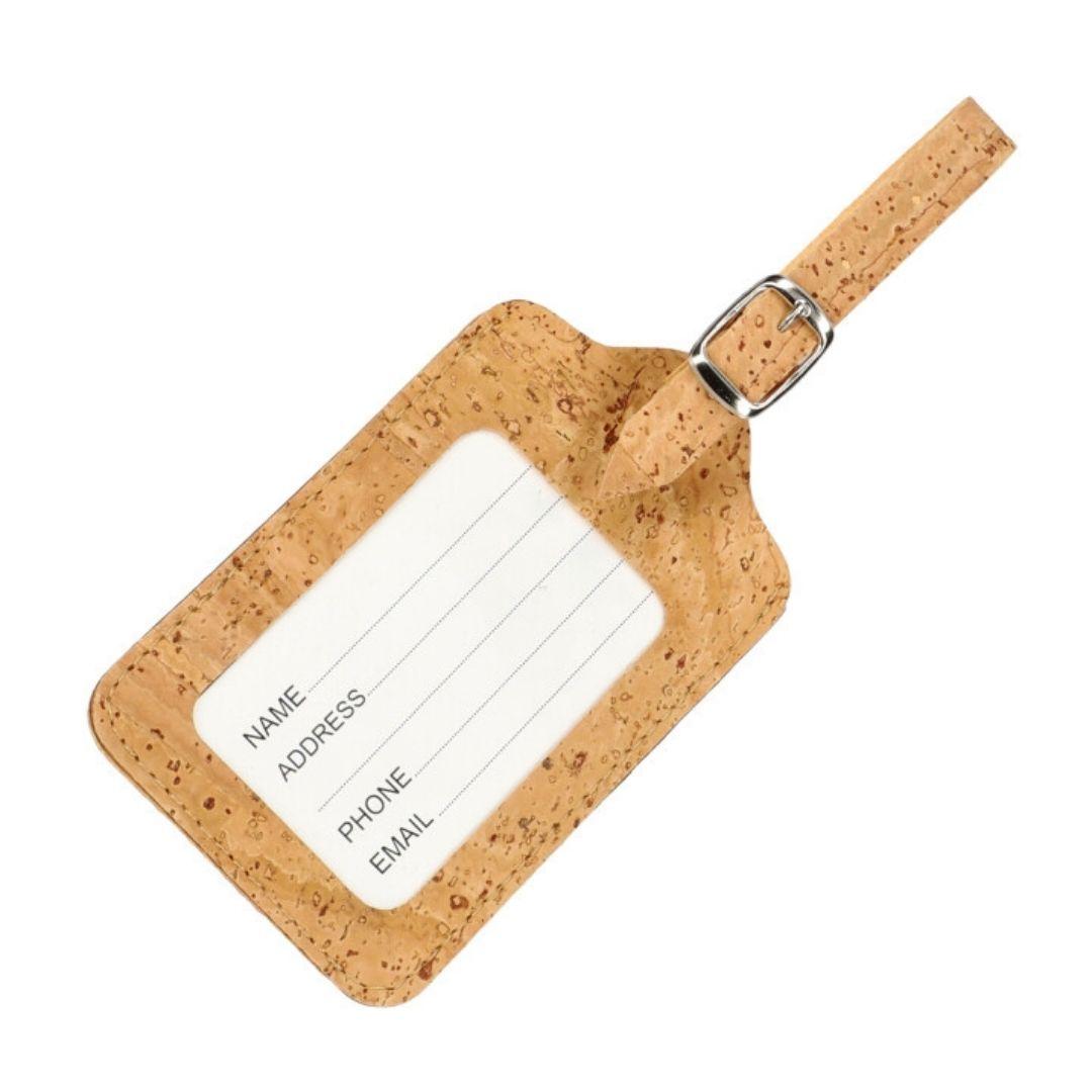 OAK Forest - Etiquette bagage liege naturel - Etiquette valise Vegan