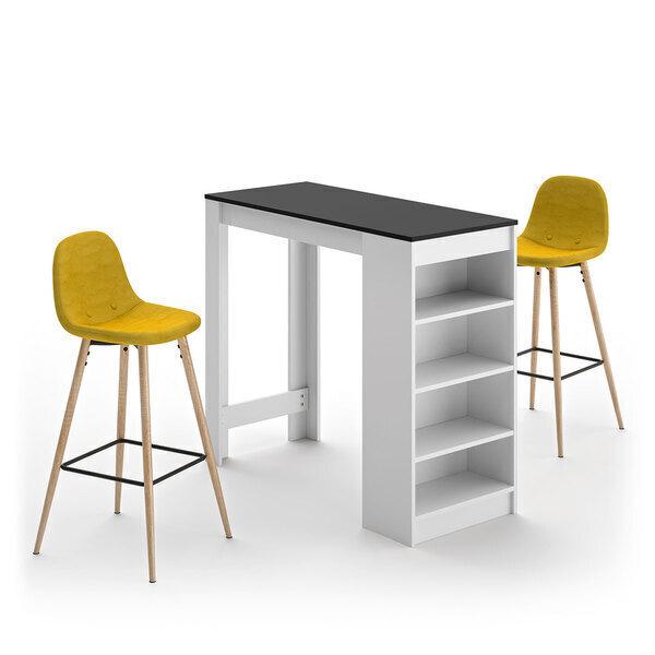 Temahome - A-COCOON table et chaises - Blanc et noir - Jaune