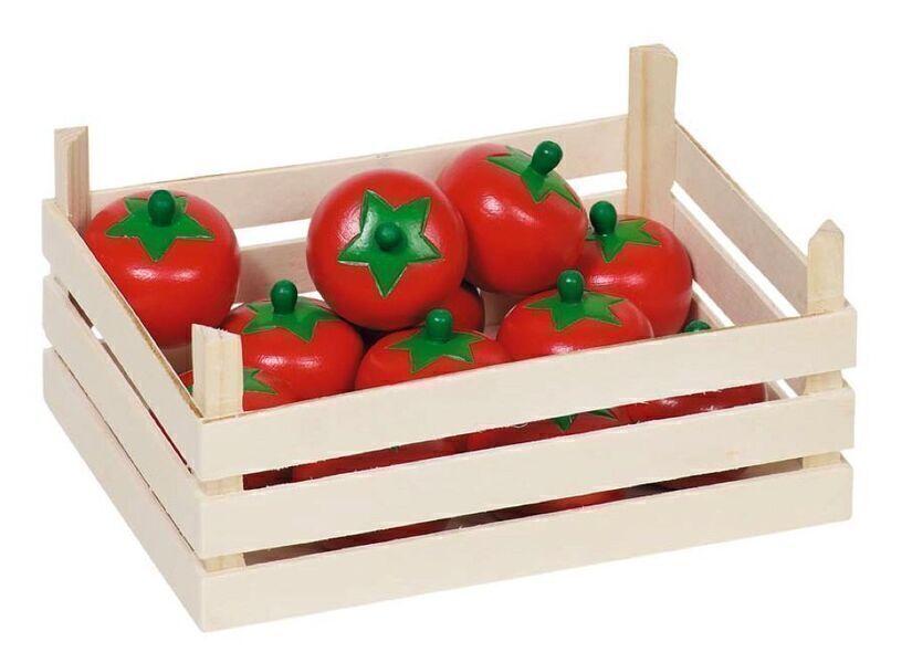 Goki - Tomates dans une cagette en bois pour Marchande - Goki