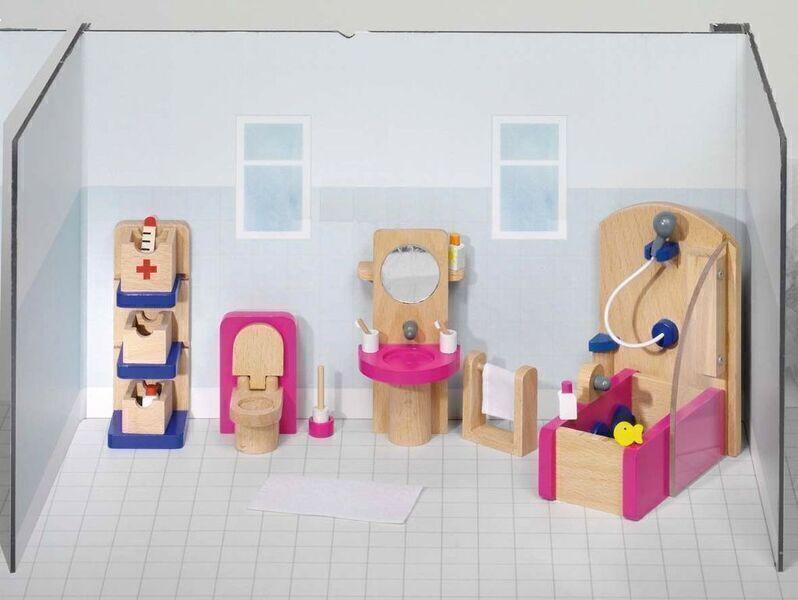 Goki - Meubles de poupées salle de bain - Goki