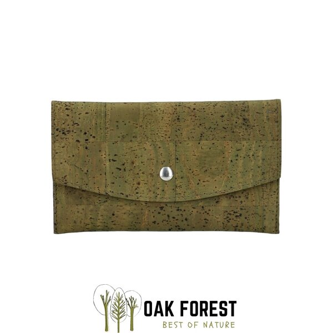 "OAK Forest - Portefeuille liège ""Pochette KAKI"" - Portefeuille Vegan"