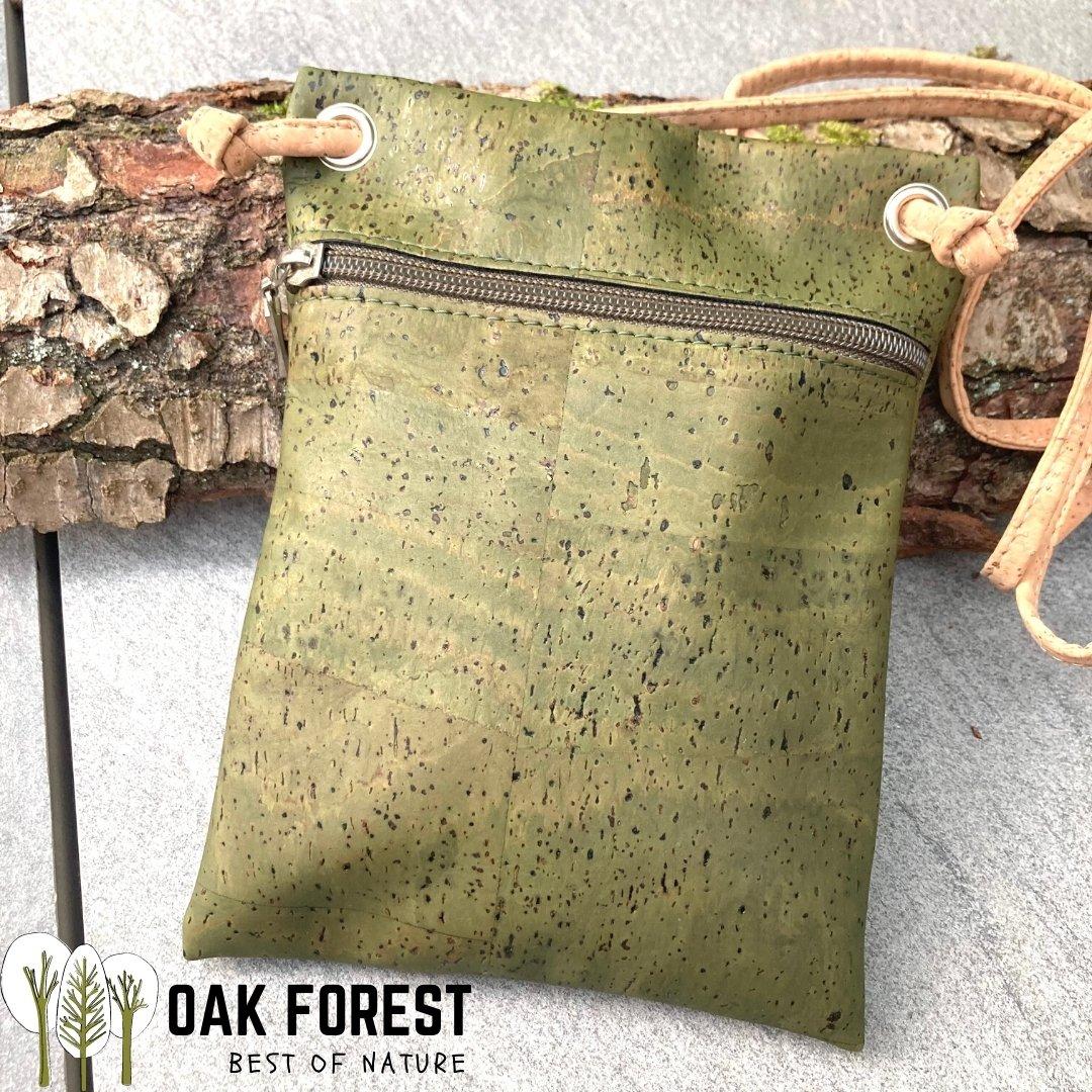 "OAK Forest - Sac en liège naturel ""Essentiel KAKI"" - Sac bandoulière Vegan"