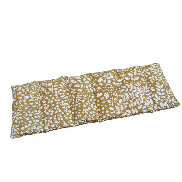 Husly Zafu - Bouillotte sèche aux graines de lin 45/15cm Fleurs blanches