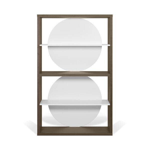 Temahome - Bibliothèque ZERO - Noyer et Blanc