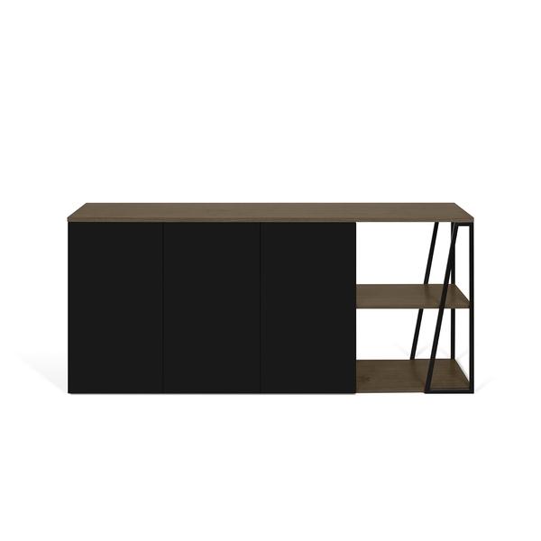 Temahome - Buffet ALBI - Noyer et Noir laqué