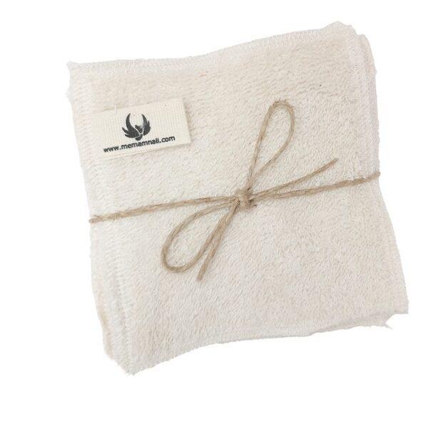 Memamnali - Lingettes en éponge de coton bio écru