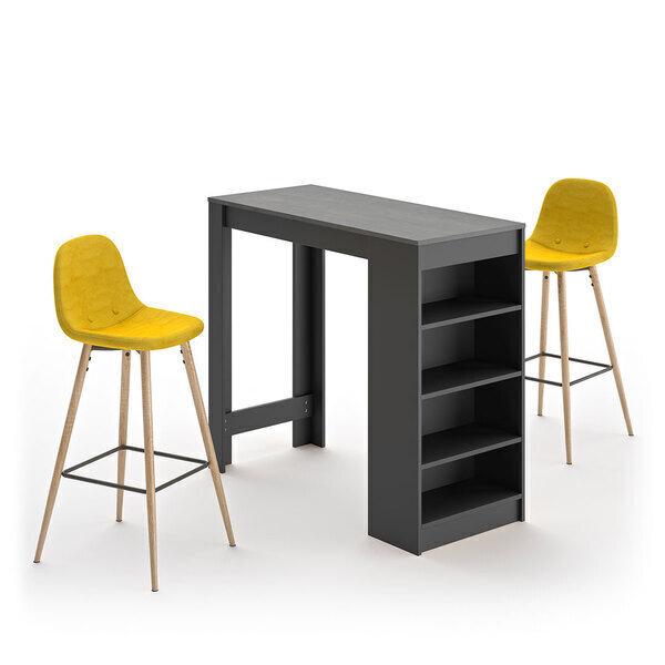 Temahome - A-COCOON table et chaises - Noir et béton - Jaune