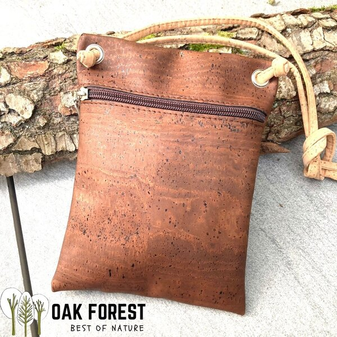 "OAK Forest - Sac en liège naturel ""Essentiel MARRON"" - Sac bandoulière Vegan"
