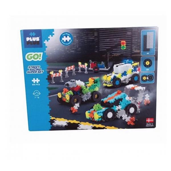 Plus Plus - ++ Go kit de decouverte Course automobile 900 pieces