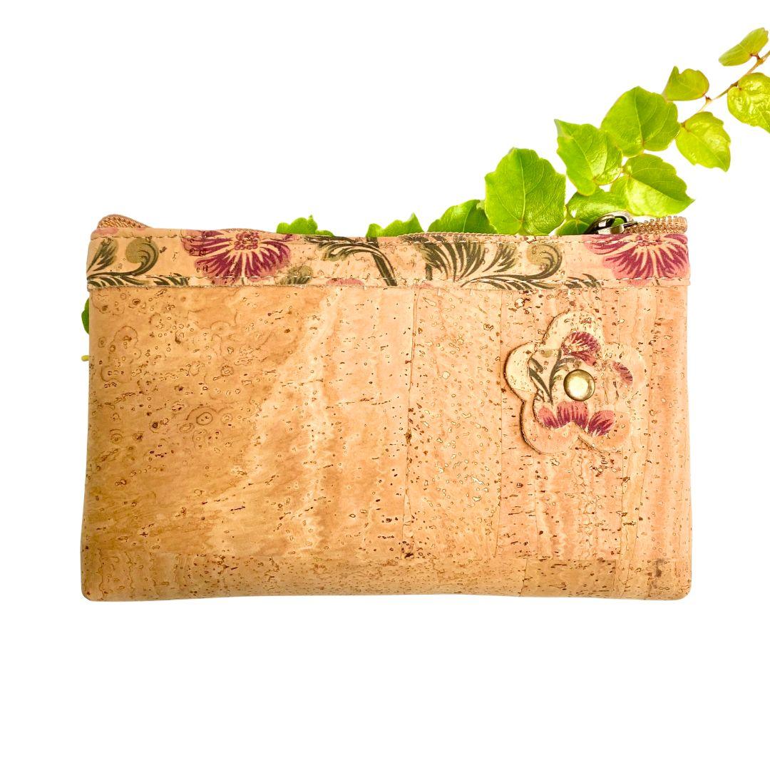 """OAK Forest - Portefeuille liège """"Pochette BORDEAUX"""" - Portefeuille Vegan"""