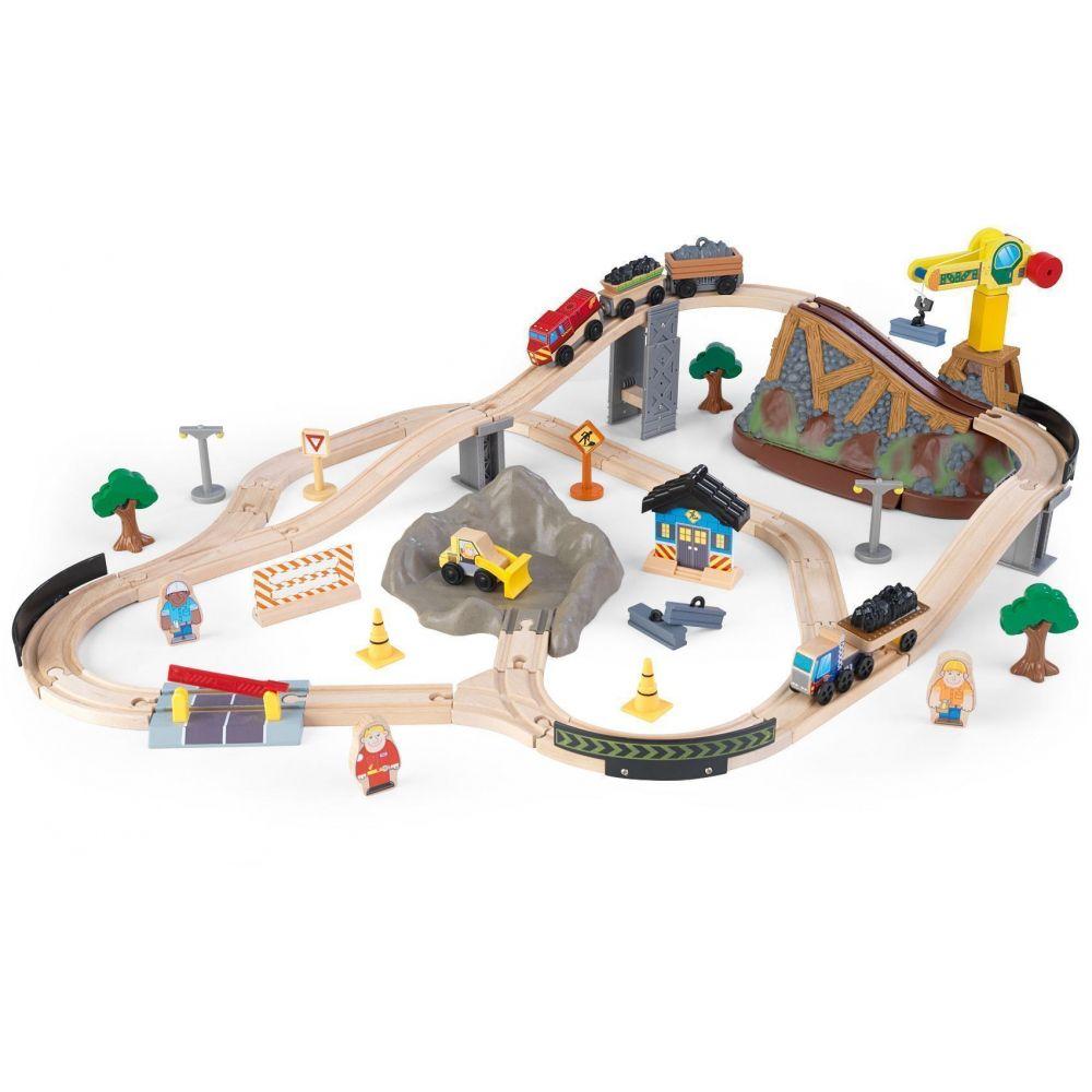 Kidkraft - Circuit de train en bois 61 pièces - Kidkraft