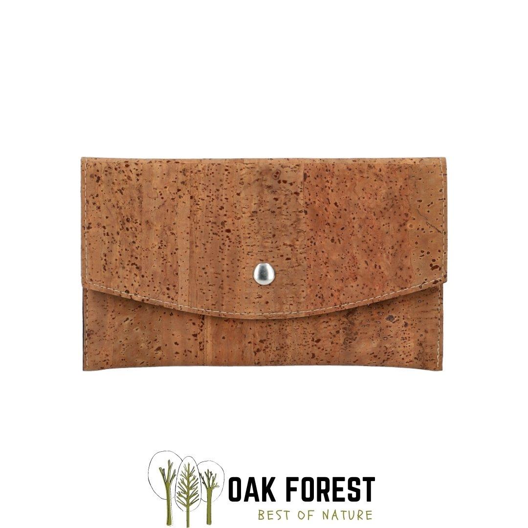 "OAK Forest - Portefeuille liège ""Pochette CARAMEL"" - Portefeuille Vegan"