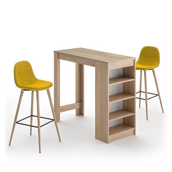 Temahome - A-COCOON table et chaises - Chêne naturel - Jaune