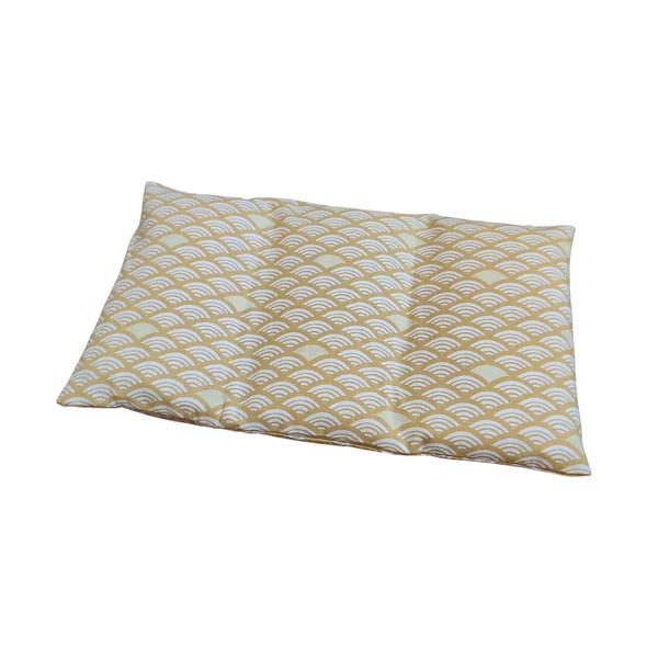 Husly Zafu - Bouillotte sèche aux graines de lin Vagues jaunes 25/15cm