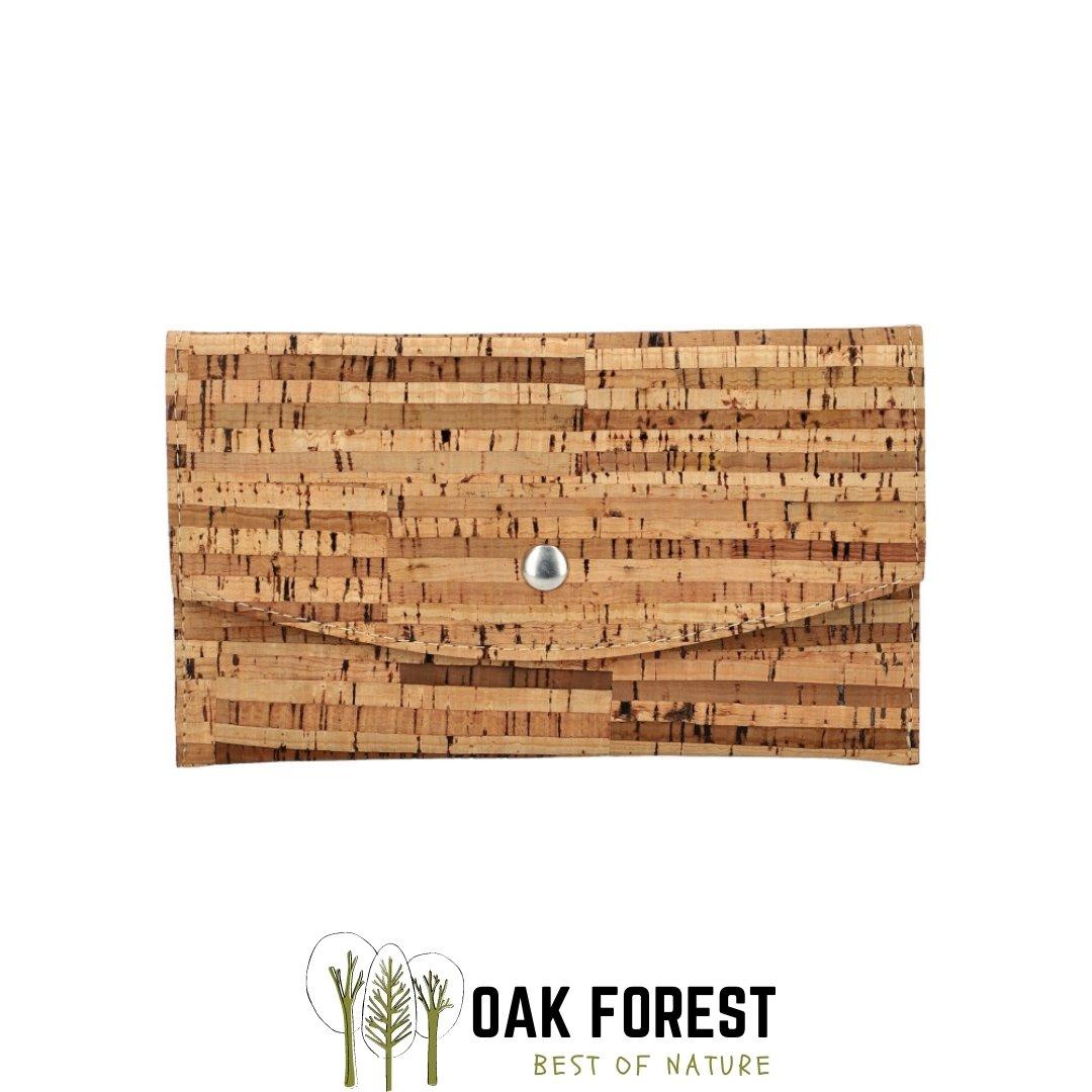 "OAK Forest - Portefeuille liège ""Pochette ZEBRE"" - Portefeuille Vegan"