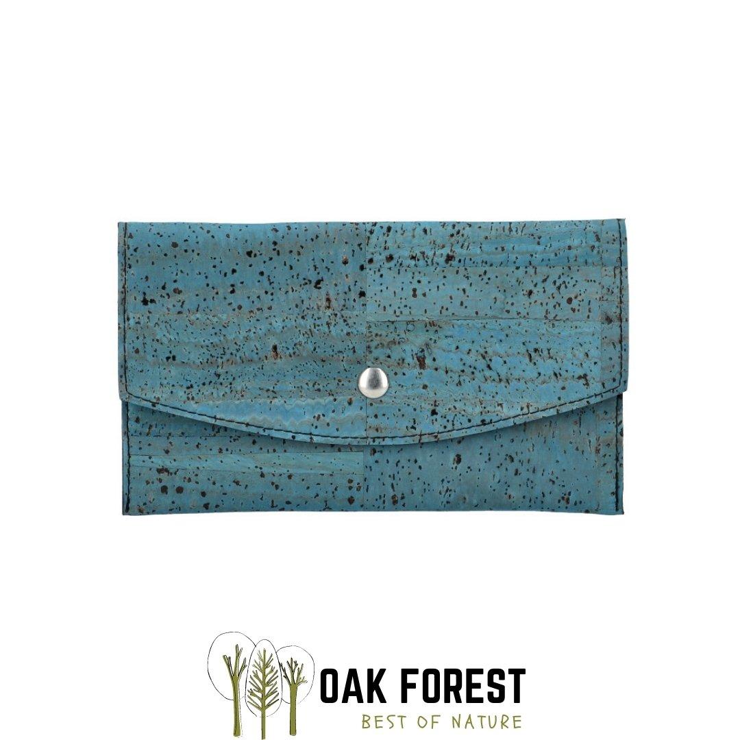 "OAK Forest - Portefeuille liège ""Pochette BLEU"" - Portefeuille Vegan"