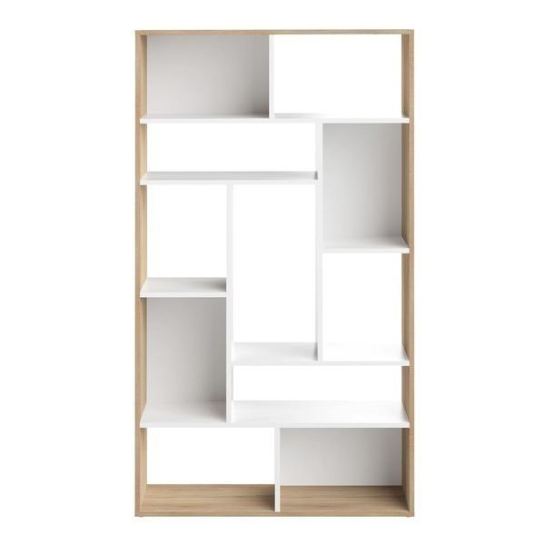 Temahome - Bibliothèque SEOUL - Blanc et chêne naturel