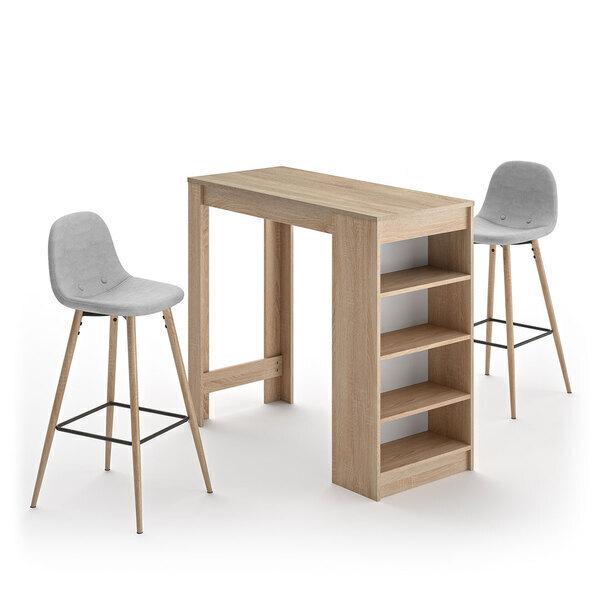 Temahome - A-COCOON table et chaises - Chêne naturel  - Gris clair