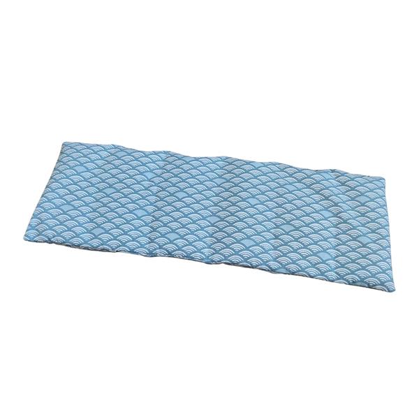 Husly Zafu - Bouillotte sèche aux graines de lin 45/15cm Vagues bleues